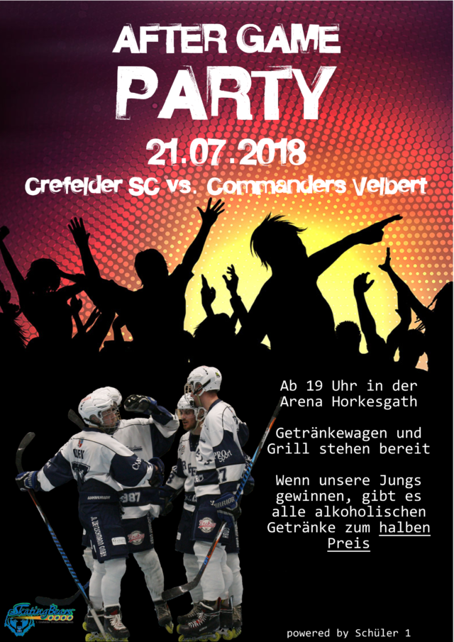 SAVE THE DATE: After Game Party am 21.07.2018